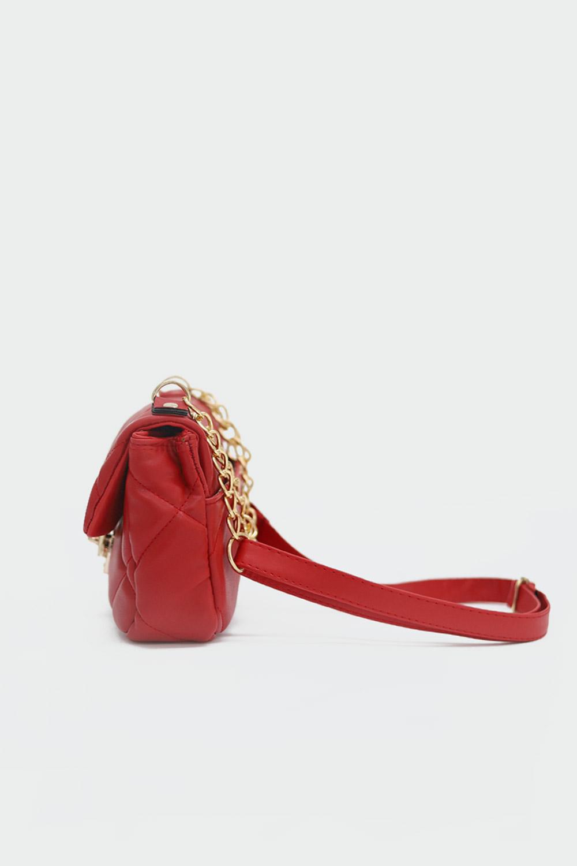 Adel Mini Kare Kapitone Kırmızı Kadın Çanta
