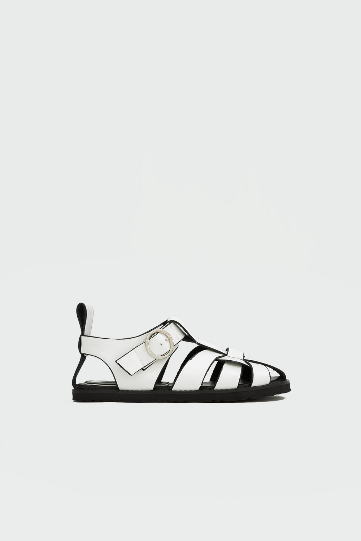 Akira Toka Detaylı Beyaz Kadın Sandalet