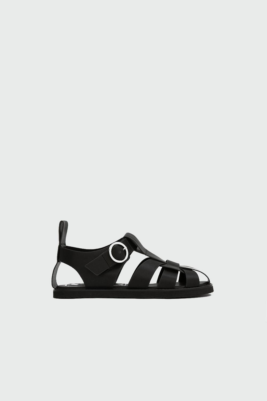 Akira Toka Detaylı Siyah Kadın Sandalet