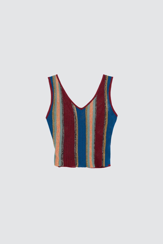 Arkası Çapraz Renkli Kadın Bluz