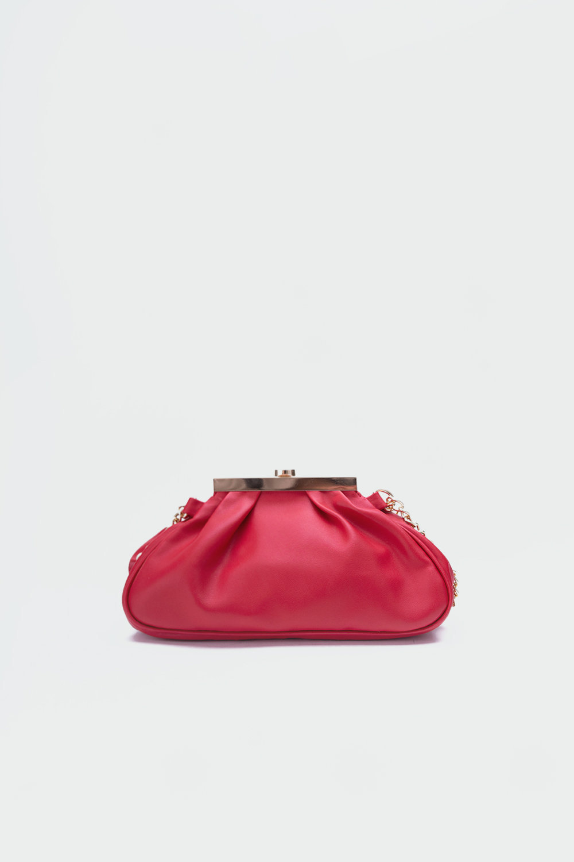 Bogy Çapraz Zincir Askılı Kırmızı Kadın Çanta