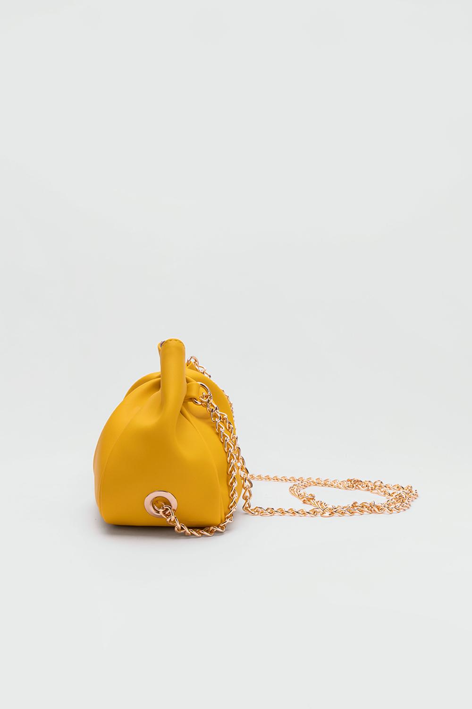 Bogy Çapraz Zincir Askılı Sarı Kadın Çanta