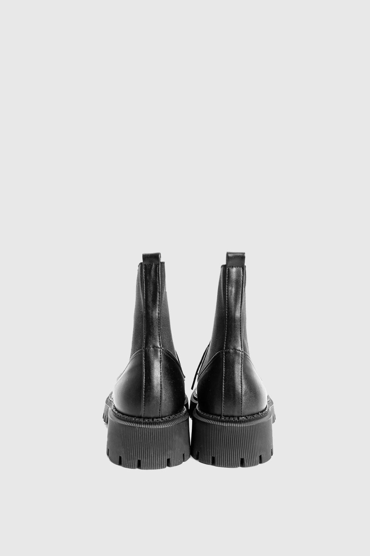 Sienna Bağcıklı Lastik Detay Siyah Kadın Bot