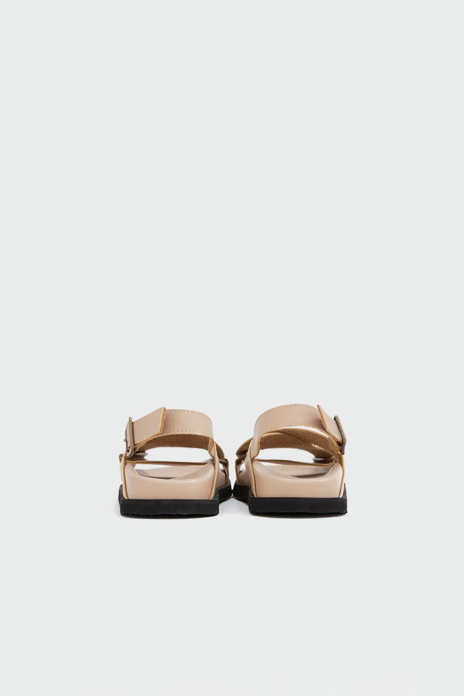 Brendy Çapraz Bantlı Nude Kadın Sandalet
