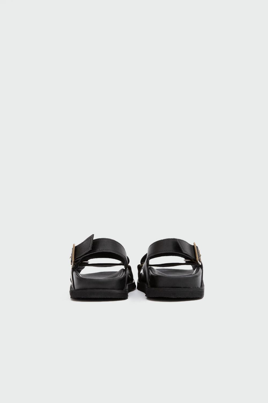 Brendy Çapraz Bantlı Siyah Kadın Sandalet
