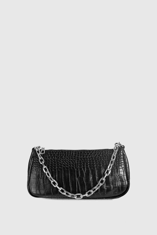 Çanta ashe Siyah Croc 20KW033010028-789