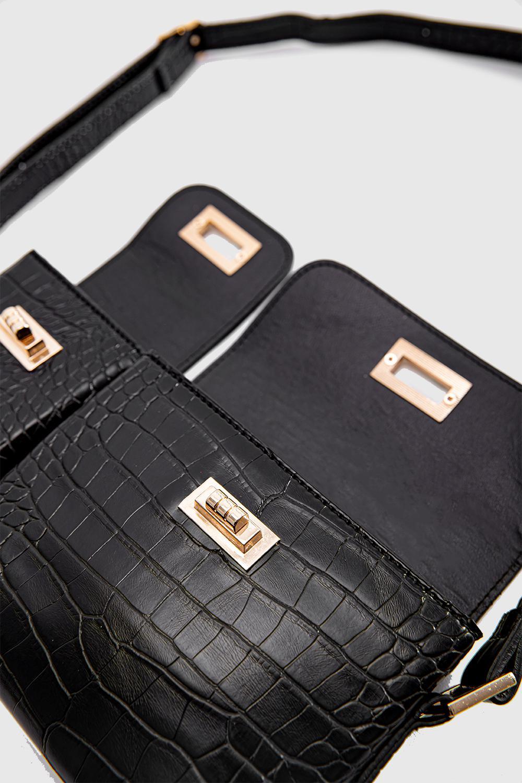 Çanta Regina Siyah Deri 20KW033010016-065