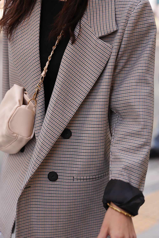 DOKULU BLAZER CEKET Kahve Kadın Ceket
