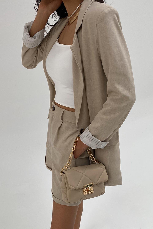KETEN ASTARLI Nude Kadın Ceket