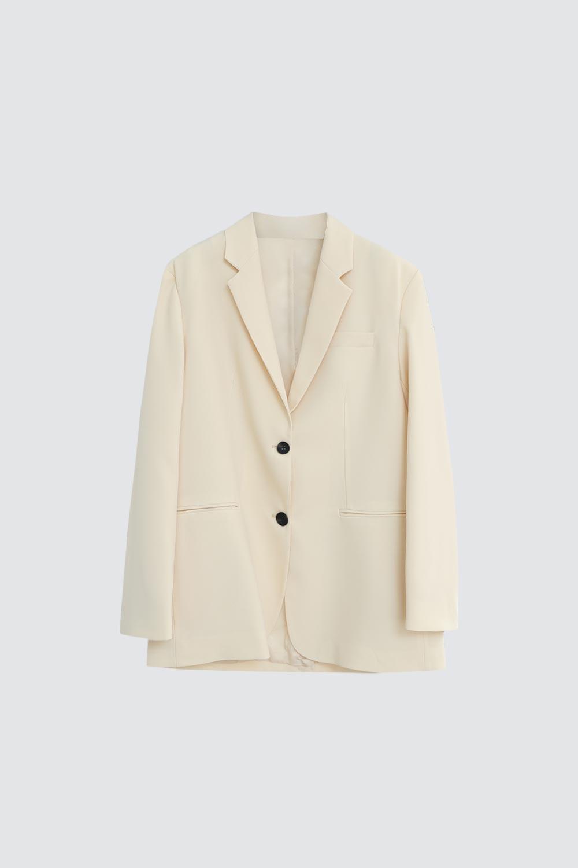 Oversize Blazer Bej Kadın Ceket