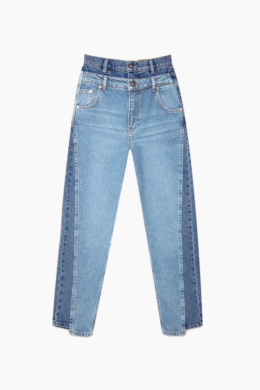 Çift Belli Jean Açık Mavi Kadın Denim / Pantolon