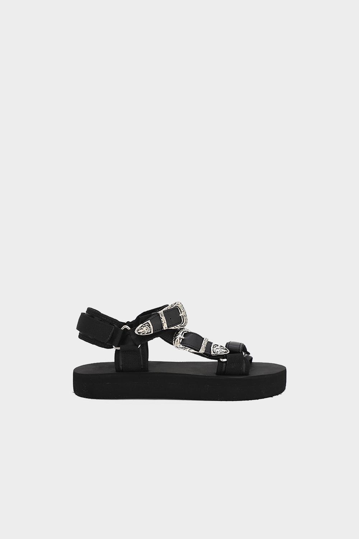 Diaz Eva Taban Bantlı Siyah Kadın Sandalet