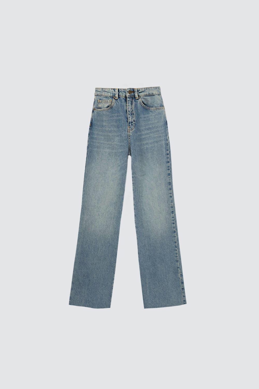 Düz Paça Straight Açık Mavi Kadın Denim / Pantolon