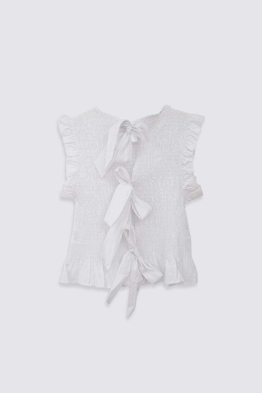 GİPELİ FIRFIR DETAYLI Beyaz Kadın Gömlek
