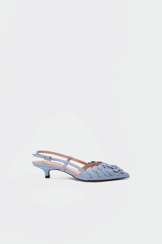 Gossip Minik topuklu gerçek deri stiletto Açık Mavi Kadın Topuklu