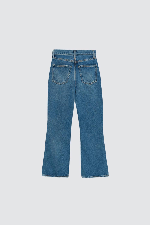 Yüksek Bel Flare Mavi Kadın Denim / Pantolon