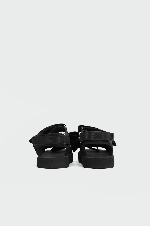 Jena Fiyonklu Çift Cırt Bantlı Siyah Kadın Sandalet