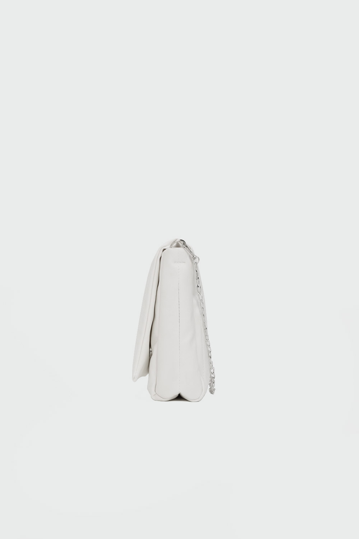 Kayle Kapitone Zincirli Beyaz Kadın Çanta
