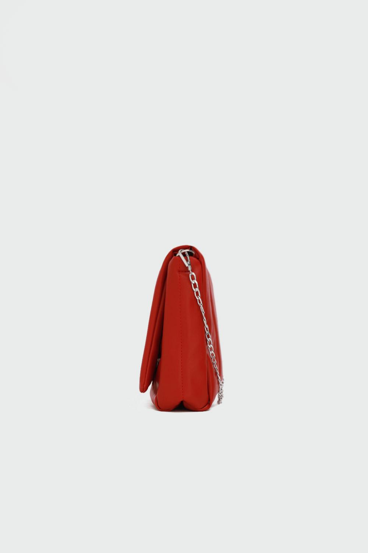 Kayle Kapitone Zincirli Kırmızı Kadın Çanta