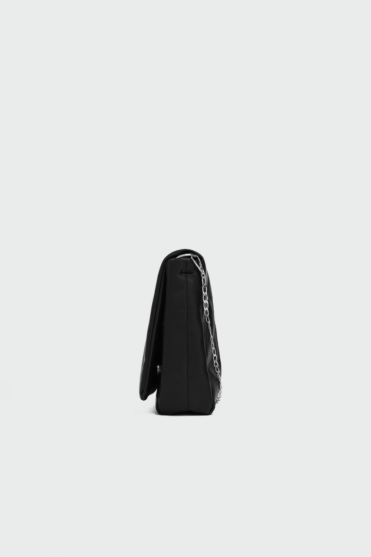 Kayle Kapitone Zincirli Siyah Kadın Çanta
