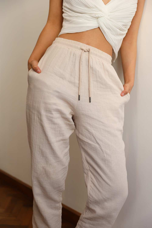 KETEN HAVUÇ Nude Kadın Denim / Pantolon