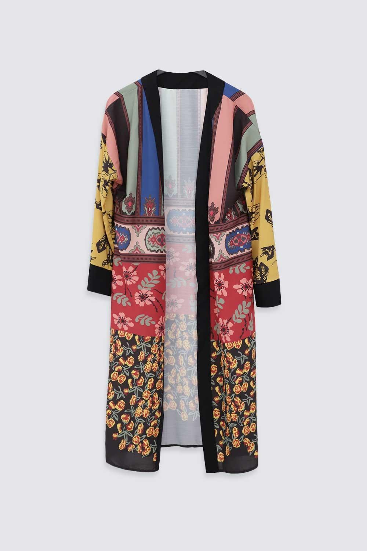 ETNİK DESENLİ Renkli Kadın Kimono