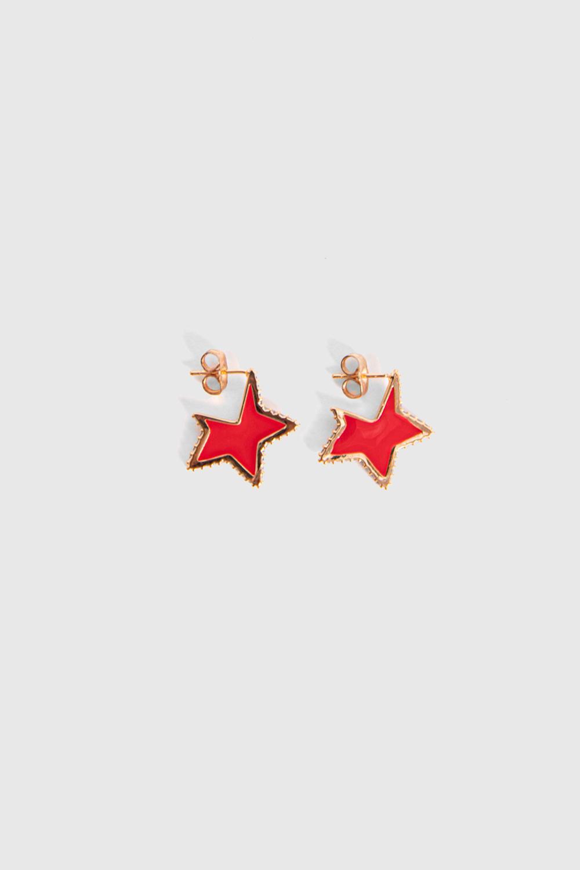 KÜPE 00122 Kırmızı Kadın Küpe