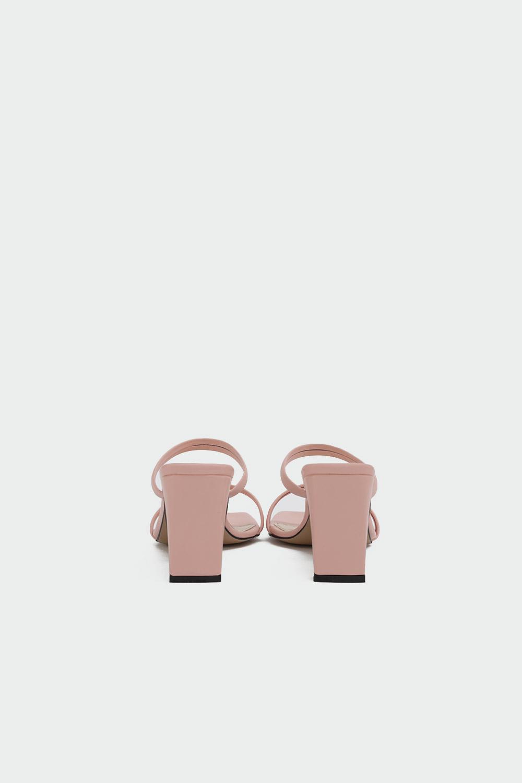 Likya İnce Bantlı Somon Kadın Topuklu