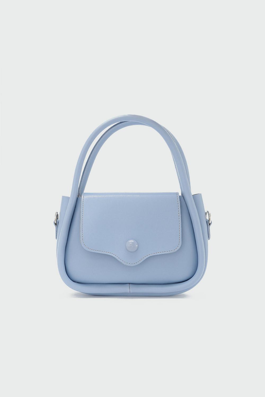 Lillesol Düğme Detaylı Önden Kapaklı Açık Mavi Kadın Çanta