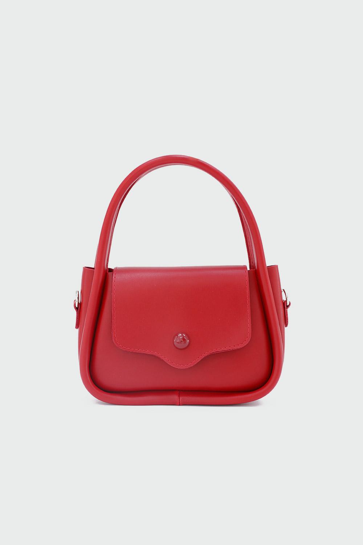 Lillesol Düğme Detaylı Önden Kapaklı Kırmızı Kadın Çanta