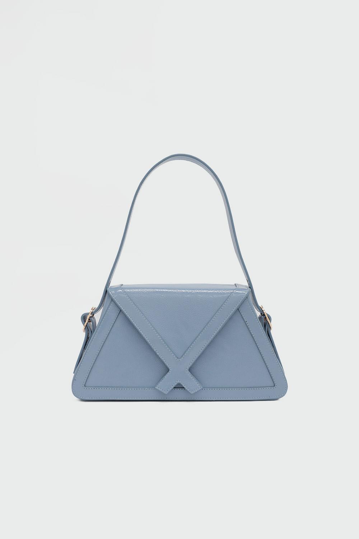Loya Çapraz Detaylı Mavi Kadın Çanta