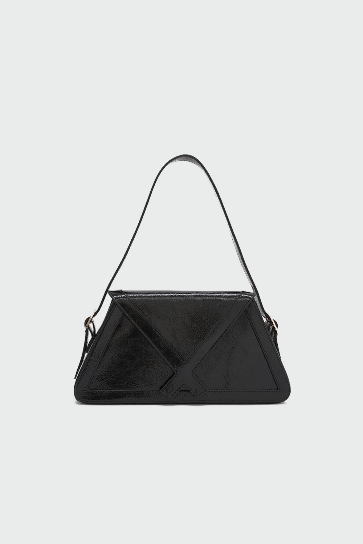 Loya Çapraz Detaylı Siyah Kadın Çanta