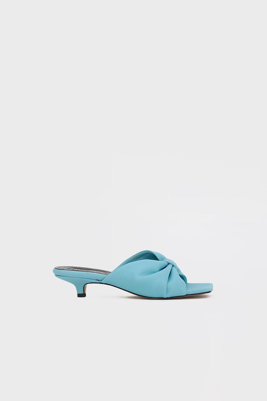Melya Kurdele Detay Açık Mavi Kadın Topuklu