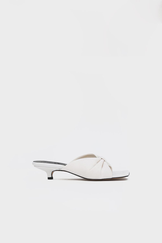 Melya Kurdele Detay Beyaz Kadın Topuklu