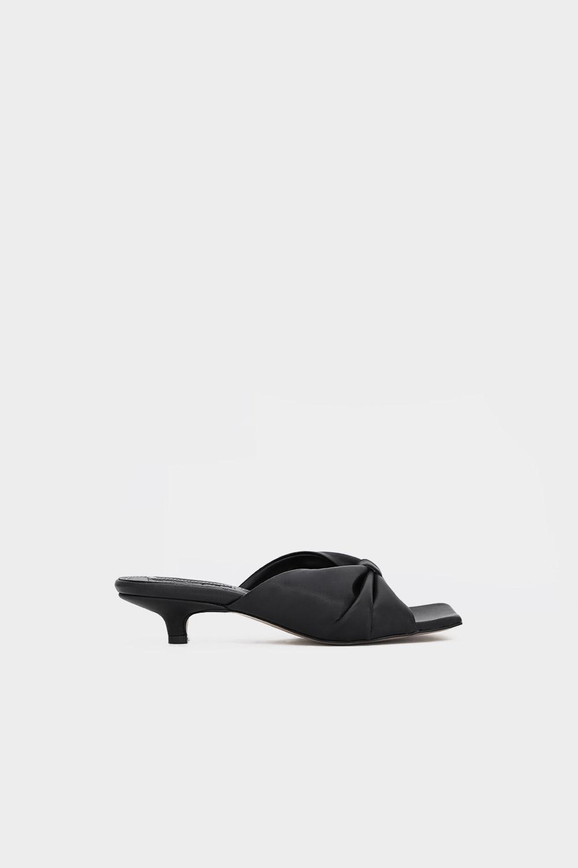 Melya Kurdele Detay Siyah Kadın Topuklu