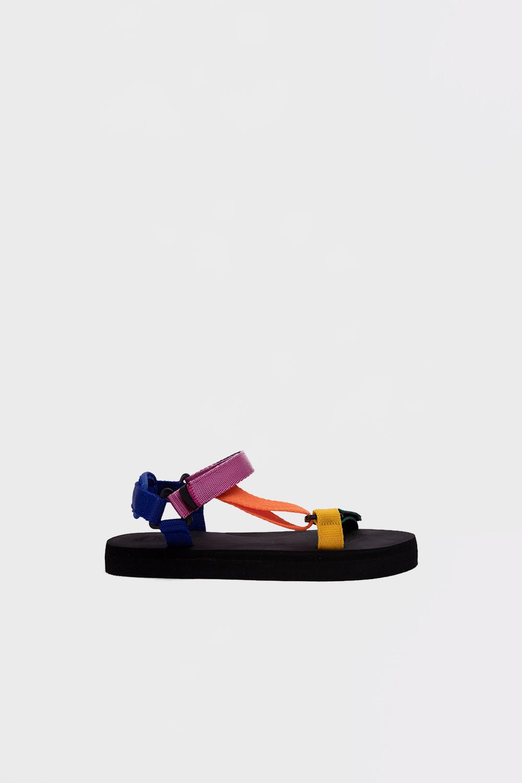 Mirabelle Eva Taban Bantlı Renkli Kadın Sandalet