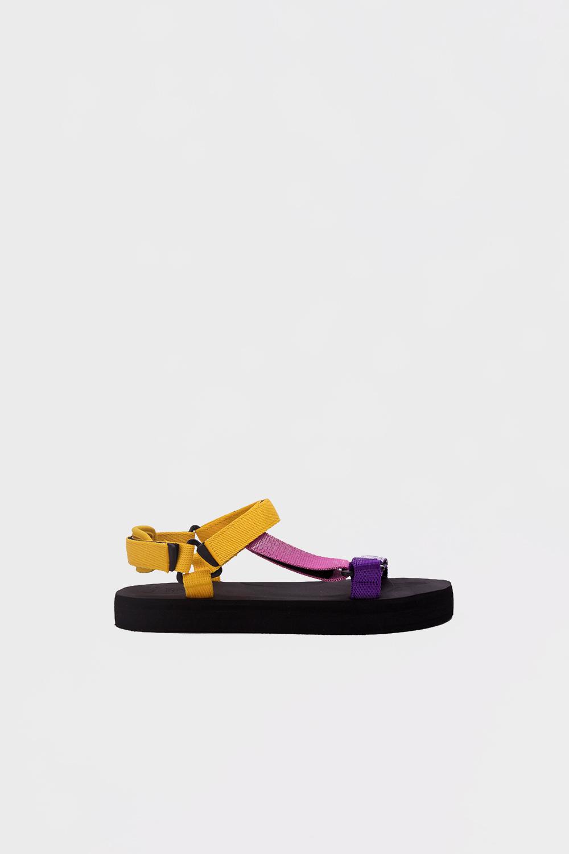 Mirabelle Eva Taban Bantlı Sarı Kadın Sandalet