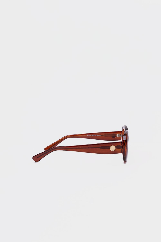 Oval Kalın Çerçeve Kahve Kadın Gözlük