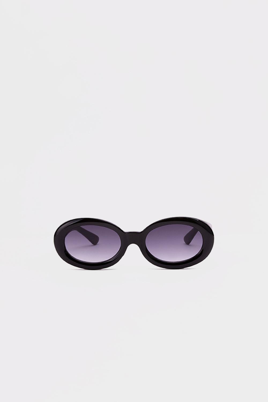 Oval Kalın Çerçeve Siyah Kadın Gözlük