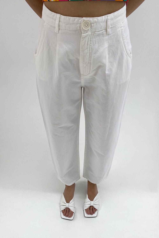 SLOUCHY Beyaz Kadın Denim / Pantolon