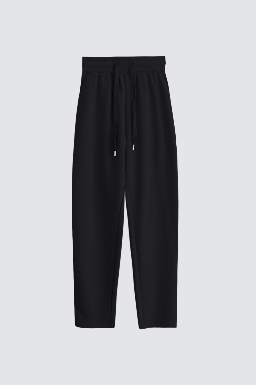 Yumuşak Dokulu Beli Lastikli Modal Siyah Kadın Denim / Pantolon