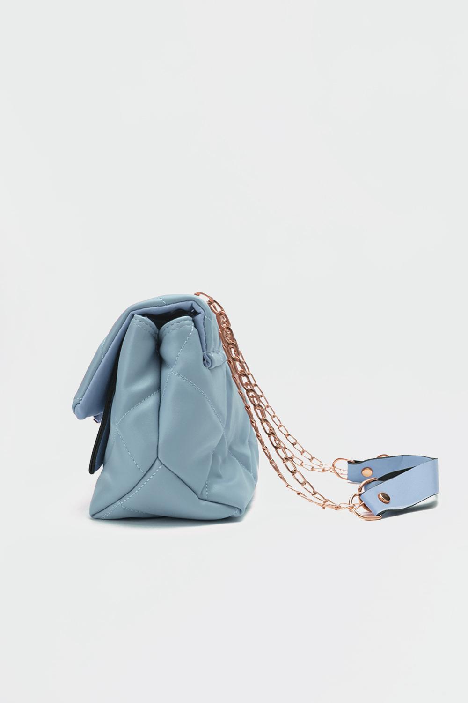 Petra Kapitone Önden Kapaklı Açık Mavi Kadın Çanta
