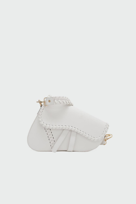 Rima Geometrik Beyaz Kadın Çanta