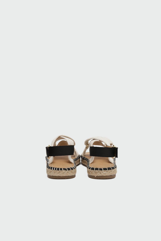Rowen Hasır Çapraz Bantlı Bej Kadın Sandalet