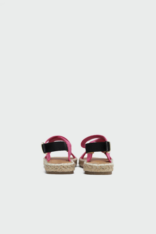 Rowen Hasır Çapraz Bantlı Fuşya Kadın Sandalet