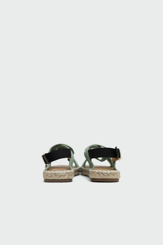 Rowen Hasır Çapraz Bantlı Yeşil Kadın Sandalet