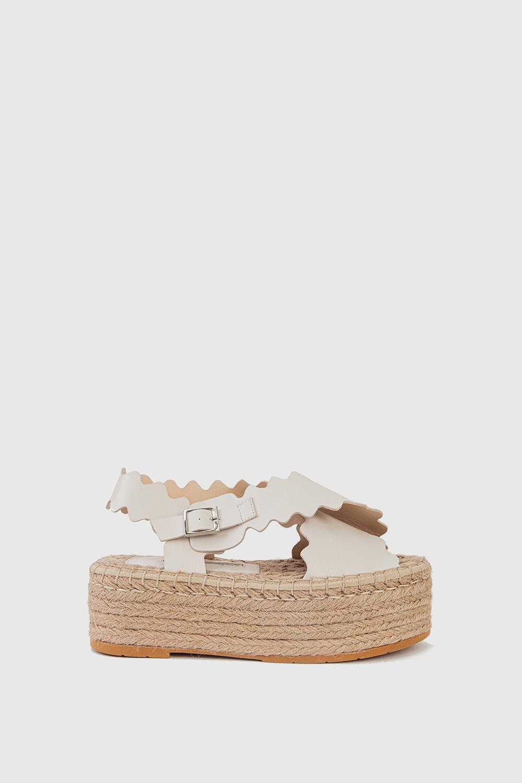 Sandalet Wicker Kırık Beyaz 20YW011090005-678