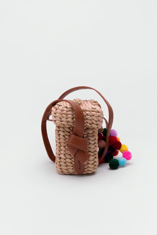 Silena Midi Kutu Model Hasır Bej Hasır Kadın Çanta
