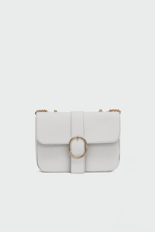 Soleil Gold Toka Detaylı Beyaz Kadın Çanta