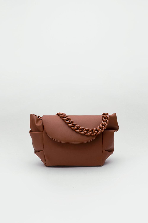 Talia Kalın Zincir Oval Detay Taba Kadın Çanta